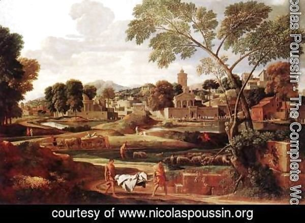 Nicolas Poussin - Landscape with the Funeral of Phocion