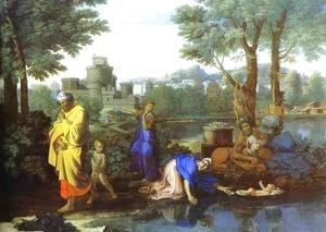 Nicolas Poussin - Baby Moses Saved from the River