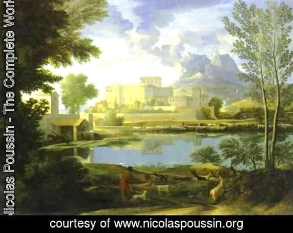 Nicolas Poussin - The Castle in Calm Weather