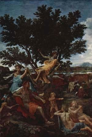 Nicolas Poussin - Apollo and Daphne (detail)