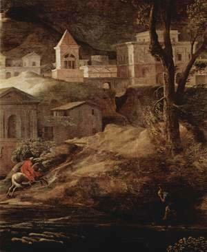 Landscape with Pyramos and Thisbe, detail (2)