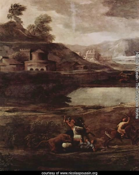Landscape with Pyramos and Thisbe, detail