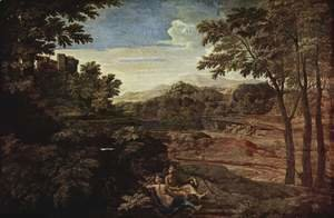 Nicolas Poussin - Landscape with two nymphs