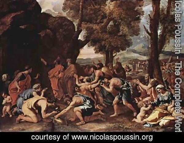 Nicolas Poussin - Moses proposes water from the rocks 2
