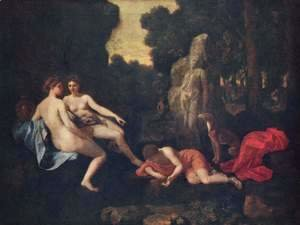 Nicolas Poussin - Narcissus and Echo