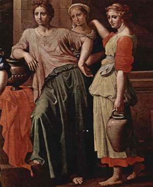 Nicolas Poussin - Rebecca and Eliezer, Detail