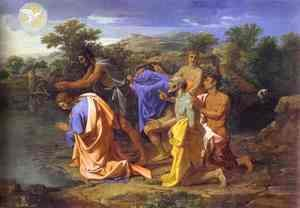 Nicolas Poussin - The Baptism of Christ. 1650s. Oil on canvas. Philadelphia Museum of Art, Philadelphia, PA, USA.