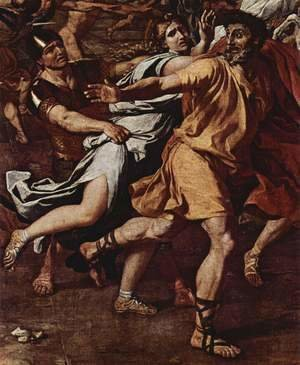 Nicolas Poussin - The Rape of the Sabine women, detail
