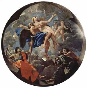 Nicolas Poussin - The time and the truth, allegory, Tondo