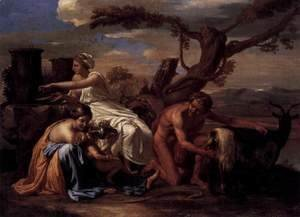 Nicolas Poussin - The Infant Jupiter Nurtured by the Goat Amalthea