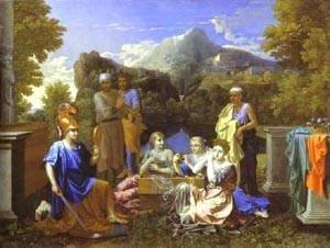Nicolas Poussin - Achilles And Daughters Of Lycomede 1656
