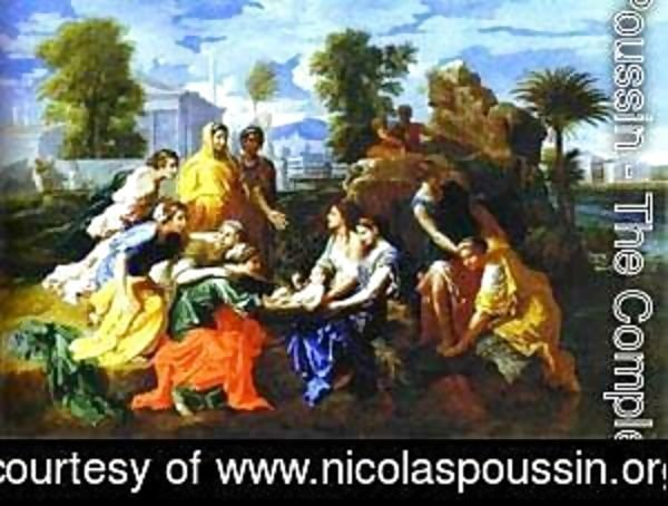 Nicolas Poussin - Baby Moses Saved From River 1651