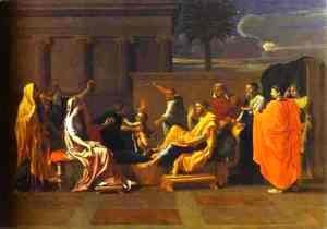 Nicolas Poussin - Baby Moses Trampling On The Pharaohs Crown 1645