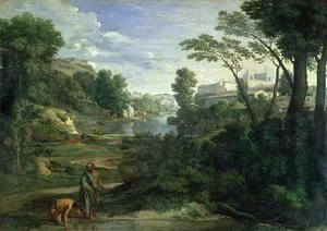 Nicolas Poussin - Landscape with Diogenes 1648