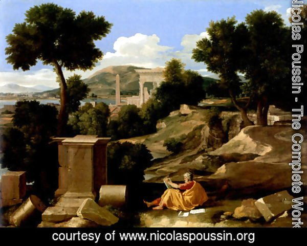 Nicolas Poussin - Landscape With St James In Patmos 1640