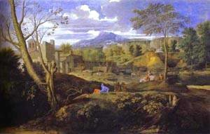 Nicolas Poussin - Landscape With Three Men 1645-1650