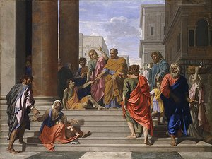 Nicolas Poussin - Saints Peter and John Healing the Lame Man 1655