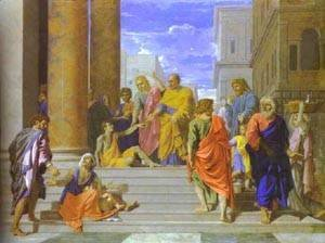 Nicolas Poussin - St Peter And St James Cure The Lame Man 1665