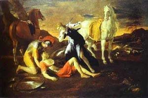 Nicolas Poussin - Tancred Nd Erminia 1630s
