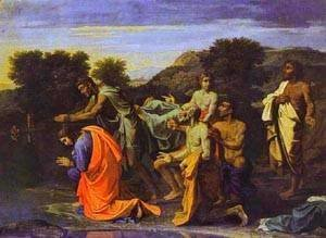 Nicolas Poussin - The Baptism Of Christ 1650s