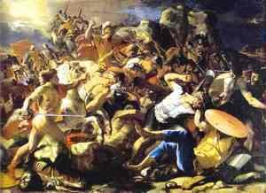 Nicolas Poussin - The Victory Of Joshua Over Amorites 1624-1626