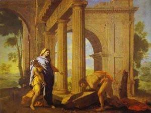Nicolas Poussin - Theseus Finding His Fathers Arms C 1633-34