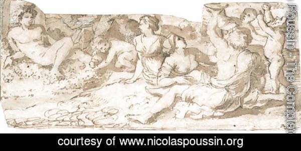Bacchus with nymphs and putti