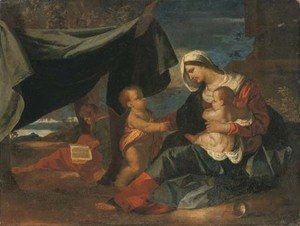Nicolas Poussin - The Holy Family with Saint John the Baptist
