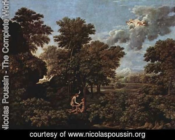 Nicolas Poussin - The Four Seasons, Spring Scene