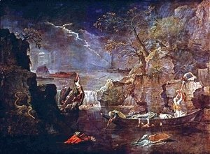 Nicolas Poussin - The Four Seasons, Winter Scene