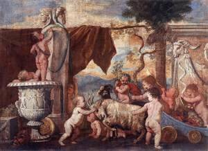 Bacchanal of Putti I