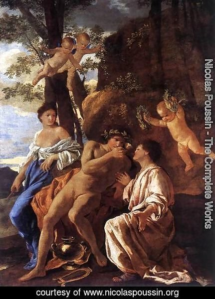 Nicolas Poussin - The Inspiration of the Lyric Poet