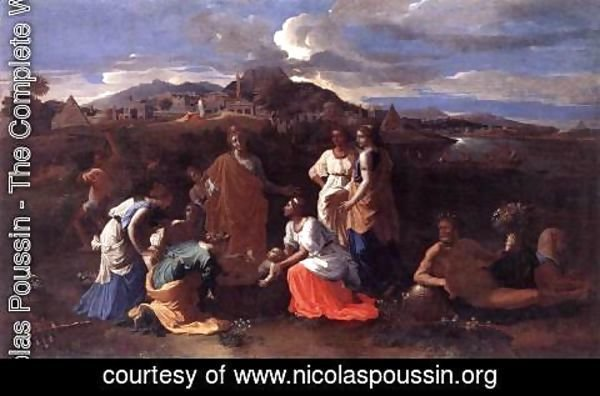 Nicolas Poussin - Finding of Moses II