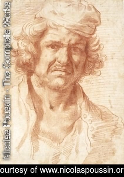 Nicolas Poussin - Self-portrait of Nicolas Poussin from 1630, while recovering from a serious illness
