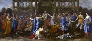 Nicolas Poussin - Hymenaios Disguised as a Woman During an Offering to Priapus